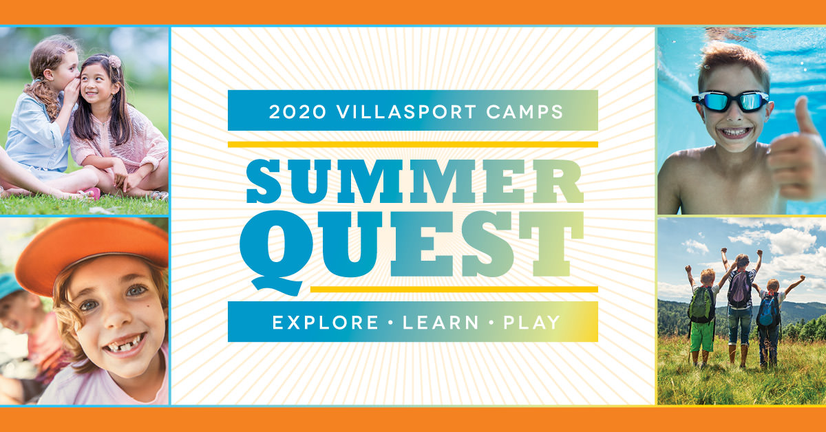 2020 VillaSport Summer Camp - Summer Quest. Explore. Learn. Play.