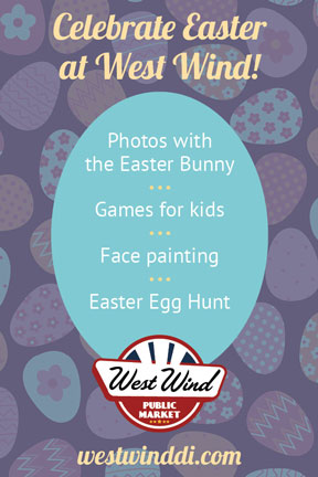Easter at west wind spanish poster