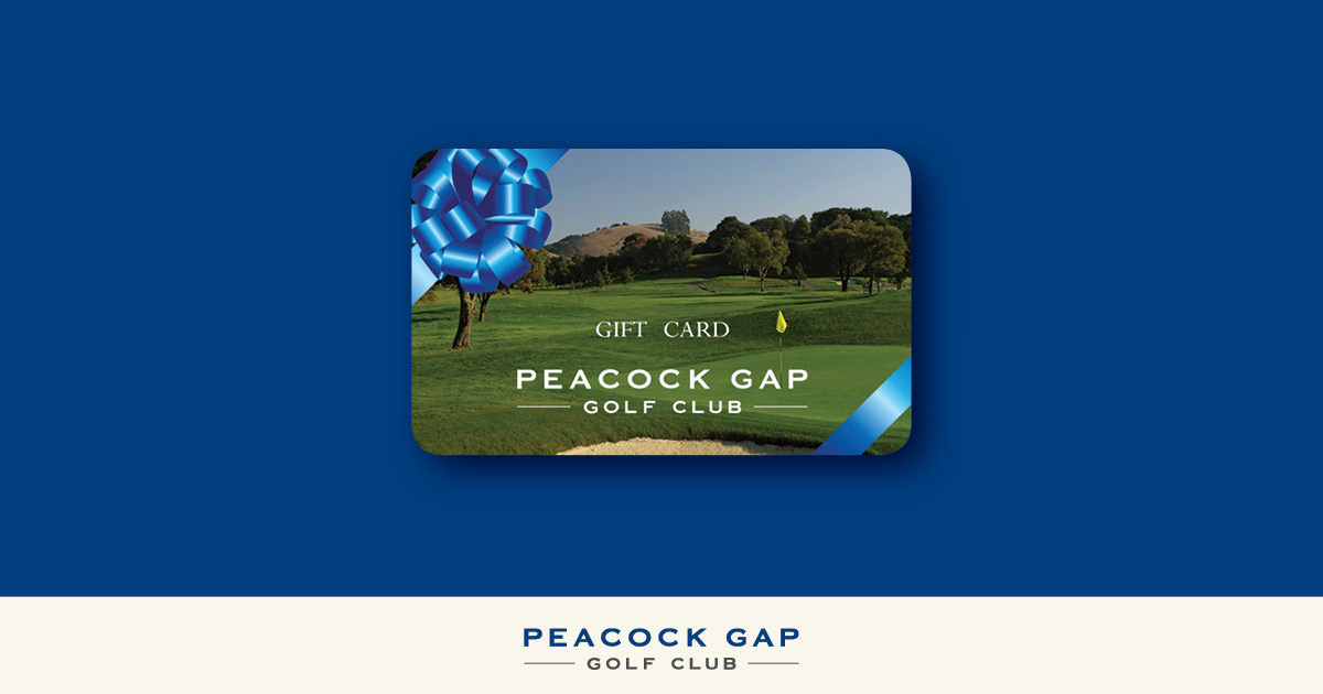 peacock gap gift card on blue background