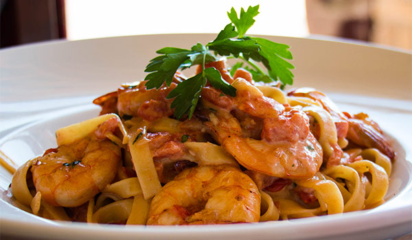 Shrimp Pasta Special at RangeCafe
