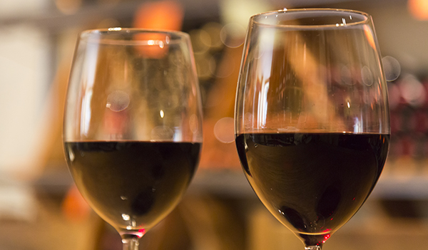 Two glasses of red wine at rangecafe