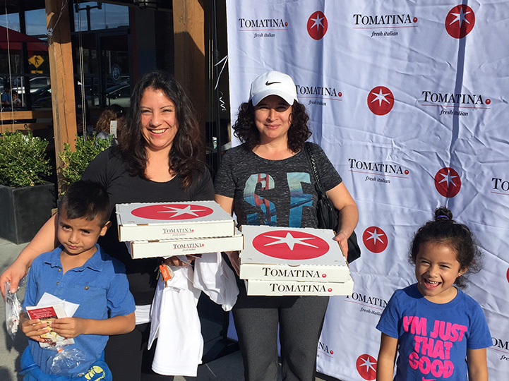 family with pizza in san rafael