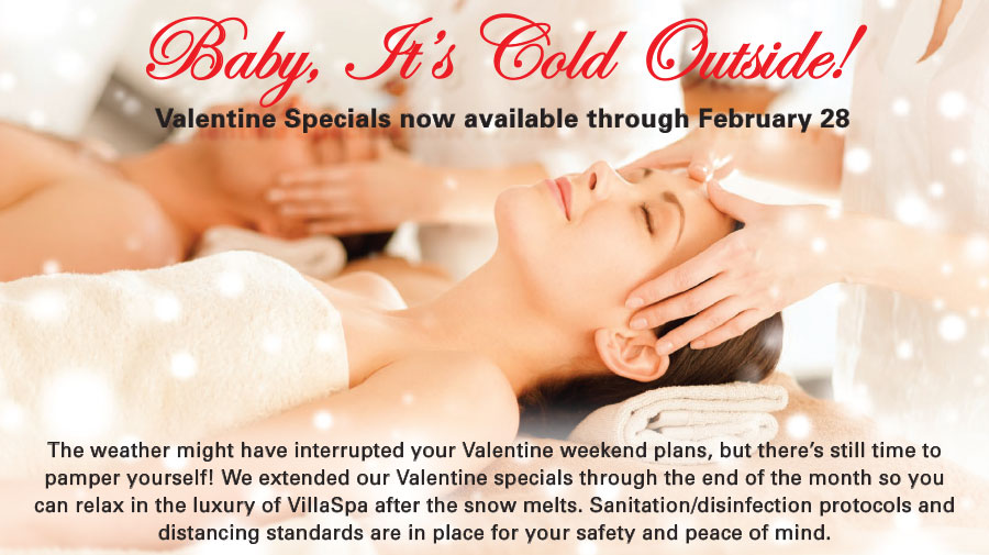 Valentine Spa Specials at VillaSport Athletic Club and Spa