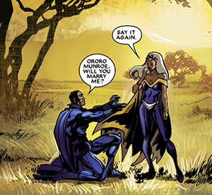 Black Panther Proposing to Storm