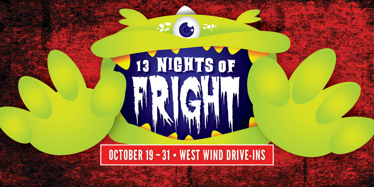 13 Nights of Fright Poster with green monster