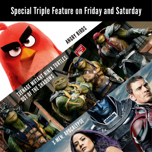 Angry Birds Ninja Turtles and Xmen Movie Poster