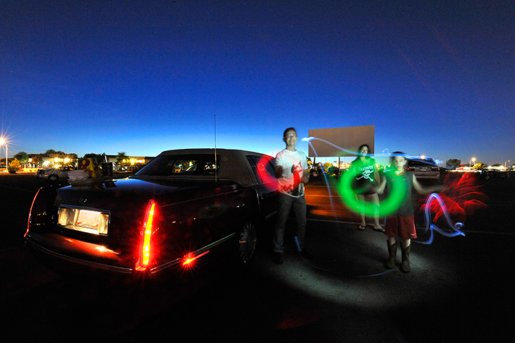Glow Sticks at drive in